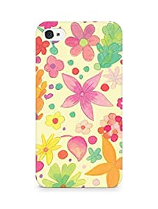 Amez designer printed 3d premium high quality back case cover for Apple iPhone 4 (Design Flowers)