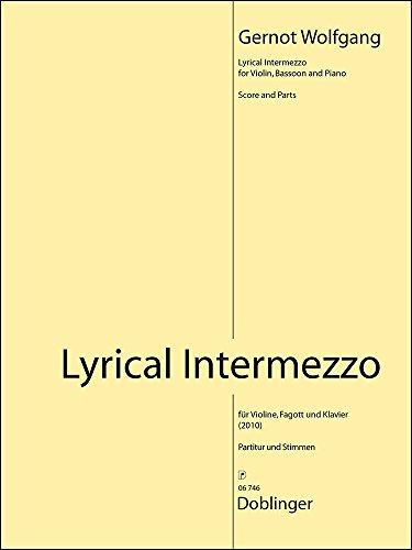 LYRICAL INTERMEZZO   BASSOON  VIOLIN AND PIANO   SET