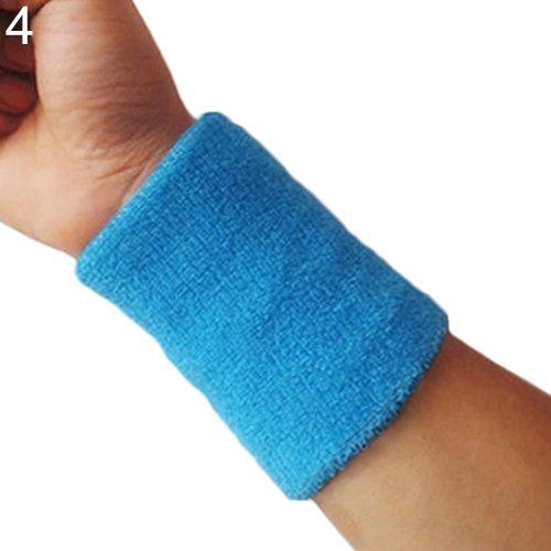XMxDESiZ1x Sport Handgelenk Schweißband Tennis Squash Badminton Gym Basketball Armband Geschenk - Sky Blue