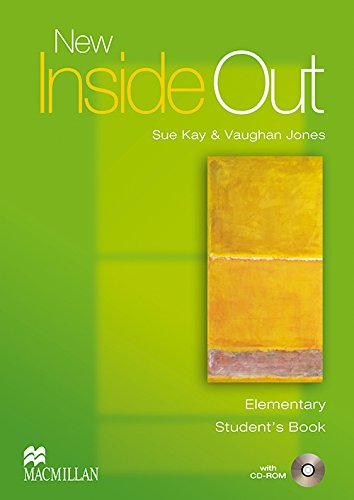 NEW INSIDE OUT Elem Sts Pack: Student's Book with CD ROM Pack: Elementary por S. Kay