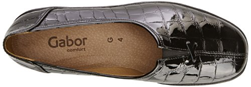 Gabor - Alice Ap, Mocassini Donna Black Alligator Patent
