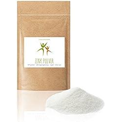 Zink Pulver - 100 g -(Citrat, Trihydrat) - Zinkgehalt 31% - 100% vegan - Lebensmittel-Qualität - Glutenfrei - Laktosefrei - OHNE Hilfs- u. Zusatzstoffe
