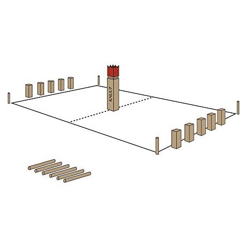 Moorland-KUBB-Wikinger-Spiel-Knut-Schweden-Schach-verschiedene-Gren