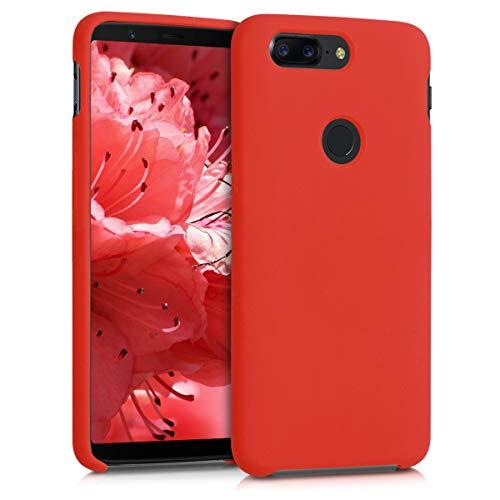 kwmobile OnePlus 5T Cover - Custodia per OnePlus 5T in Silicone TPU - Back Case Cellulare Rosso