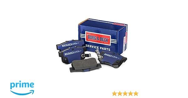 Akebono Borg /& Beck BBP1985 Rear Brake Pads Includes Wear Indicators//Leads