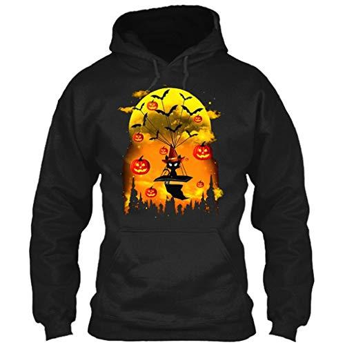 Frau Schläger-tank-shirt (Herren Damen Halloween Shirt SHOBDW Frauen Herbst Winter Mode Elegant Schläger Kürbis Drucken Tops Bluse Langarm Casual Hooded Shirts für Damen Oberseite Kapuzenpullover Damen Unisex Hoodie)