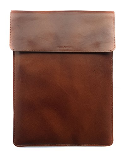 Chalk Factory Vintage Leather Sleeve/ Slipcase for Dell Inspiron 5547 15-inch Touchscreen Laptop #OR (2TONE)