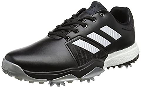 adidas Adipower Boost 3, Chaussures de Golf Homme, Noir (Core Black/White/Silver Metallic), 44 EU