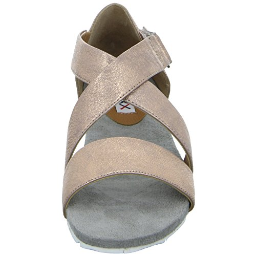 BOXX 76686 Damen Sandalette sportlicher Boden Rot (Rosègold)