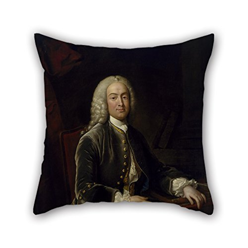 beautifulseason Oil Painting Jean-Baptiste Van Loo - William Murray, 1st Earl of Mansfield Pillowcase 16 X 16 Inches/40 by 40 cm Best Choice for Seat Office Teens Girls Her Christmas Bedroom with