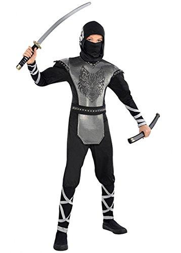 Magic Box Int. Jungen Deluxe heulenden Wolf Ninja Kostüm Teen (14-16 Years) (Teen Wolf Kostüm)