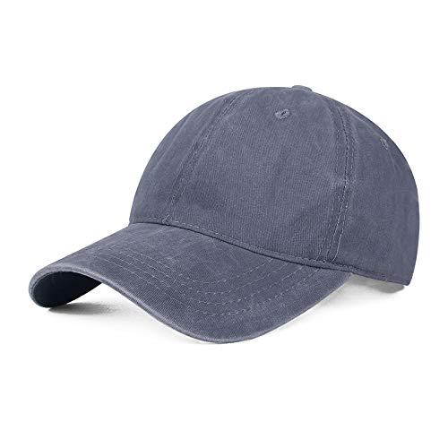 shunlidas Hüte Dekorationen Fischerhutsummer Baseball Cap Breathable Sunscreen Cap Duck-Billed Cap,Adjustable (55-60 cm),Blue-Grey -