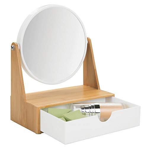 MDesign Espejo redondo giratorio - Tocador espejo