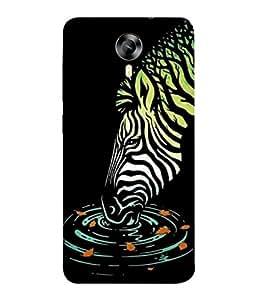 PrintVisa Designer Back Case Cover for Micromax Canvas Xpress 2 E313 (Texture Illustration Cartoon White Backcase Pouch)