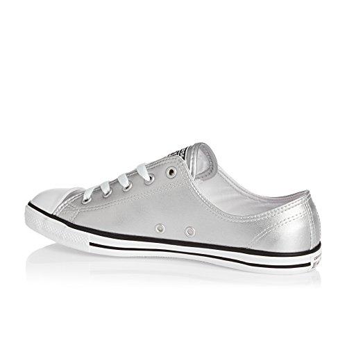 Pelle Converse Mandrini 553338C All Star Metallic Dainty Blush Oro Nero Bianco Silver