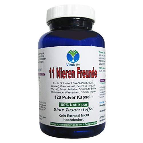 11 Nieren Freunde 120 Kapseln | Natürlich starke Kräuter für Nieren + Blase + Harnwege | NATUR pur OHNE Zusatzstoffe | 26309 -