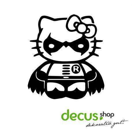 Decus Hello Kitty Robin Batman // Sticker OEM JDM Style Aufkleber // Sticker OEM JDM Style Aufkleber (Hello Kitty Auto Aufkleber Zubehör)