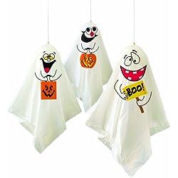 Unique Party - Decoraciones colgantes para fiesta de Halloween
