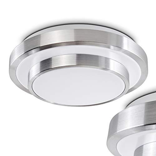 LED Bad Decken-Leuchte Sora mit warmweißem Licht aus Aluminium – Badezimmerlampe - Deckenstrahler für Flur – Büro – Küche – Wohnzimmer - Innenlampe für die Dusche