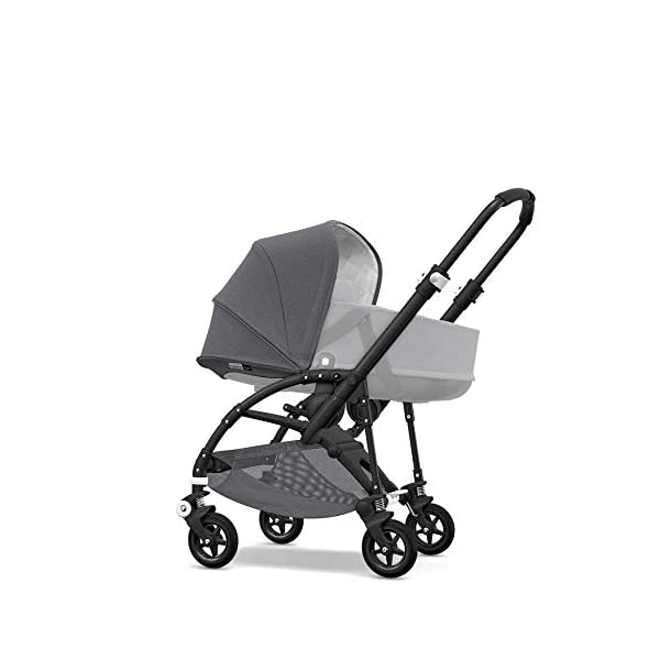 Bugaboo Bee 5 Classic Collection Pushchair Black Chassis - Grey Melange Bugaboo  2