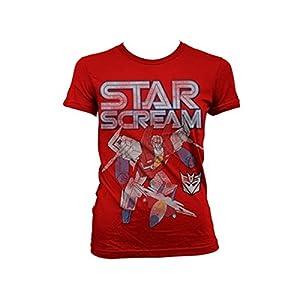 Transformers - T-shirt - Manches Courtes - Femme -  rouge - XX-Large