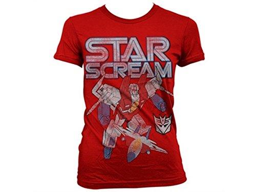 Transformers - T-shirt - Manches Courtes - Femme -  rouge - Large