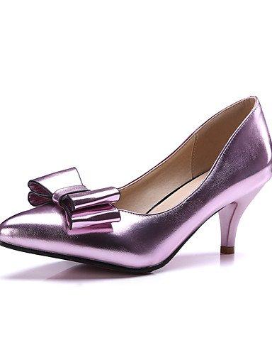 WSS 2016 Chaussures Femme-Bureau & Travail / Habillé / Décontracté-Bleu / Rose / Argent / Or-Talon Aiguille-Compensées / Talons / Confort / Bout golden-us5 / eu35 / uk3 / cn34