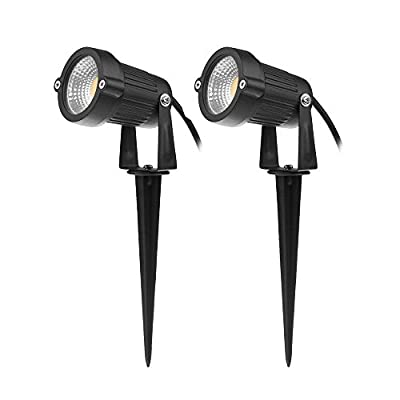 LemonBest® 3W 12V Outdoor Garden Spike Light Wall Spotlight Yard Patio Path Lamp IP65 Warm White Pack of 2 produced by Lemontop - quick delivery from UK.