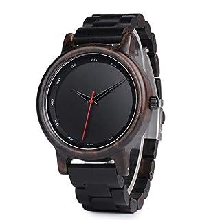 Personalisierte Holz Uhr eingraviert Uhren für Männer Ebenholz Armbanduhr Geschenk für Sohn - Unisex benutzerdefinierte Schwarze Uhr - Geburtstagsgeschenk Geburtstagsgeschenk