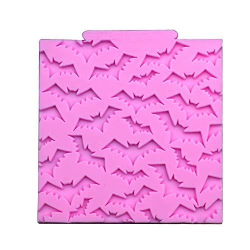 Drawihi,stampo in silicone a forma di pipistrello,per fondente,decorazioni torte,stampo per torte,rosa 11 * 10.5 * 0.7cm