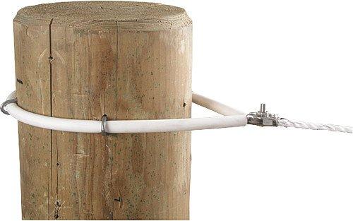 Gaine isolante plastifiée, blanc, pourfixation de cordes, les 5 m - 161405