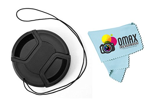 55mm replacement Lens cap for Sony Alpha A58 Digital SLT series DSLR 18-55 Lens + Free Omax Premium chamois leather  available at amazon for Rs.160