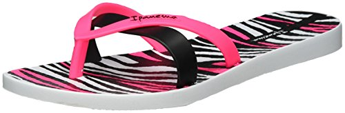 Ipanema Kirei Silk Ii Fem, Tongs Femme Mehrfarbig (white/black)