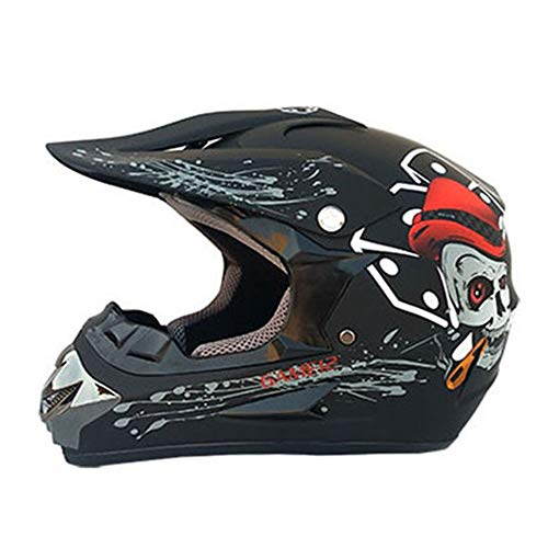 YHWCUICAN Motorrad-Sturzhelm Offroad-Helm Motorradhelm Universal Profi-Motorradhelm Downhill-Sicherheitshelm (Size : L)