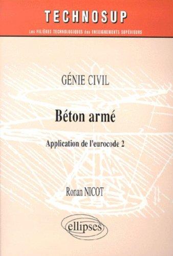 Béton armé, application de l'eurocode 2 : Génie civil