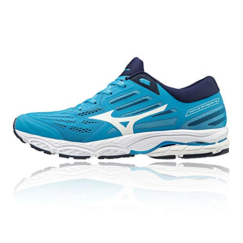 Mizuno Men Wave Stream 2 Neutral Running Shoe Running Shoes Blue - White 12