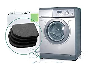 Yingwei Black Multifunctional Washing Machine Shock Pads Non-slip Mats Refrigerator Shock Mute Pad 4pcs from Yingwei