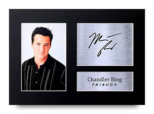 HWC Trading Chandler Bing A4 Ungerahmt Signiert Gedruckt Autogramme Bild Druck-Fotoanzeige Geschenk Für Friends Matthew Perry Tv-Show-Fans -