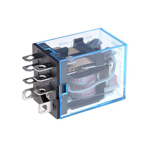 73JohnPol AC 220 V Spulenleistungsrelais LY2NJ DPDT 8 Pin PTF08A JQX-13F Mit Sockel Base Elektronische Micro Mini Elektromagnetische Modulschalter -