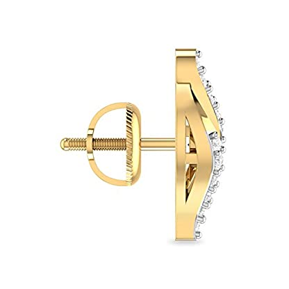 PC Jeweller The Yakov 18KT Yellow Gold and Diamond Stud Earrings for Women