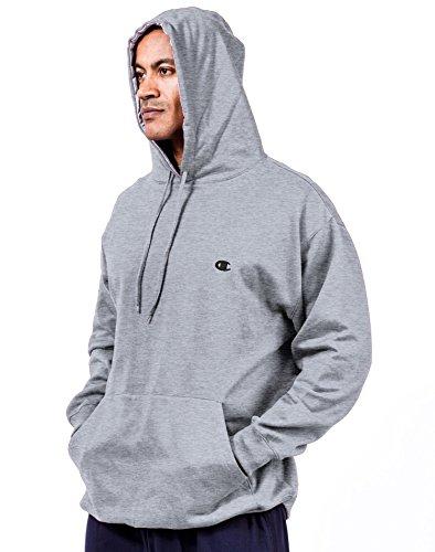Champion Big & Tall, maglione in pile con cappuccio con fodera a contrasto Heather Grey XL