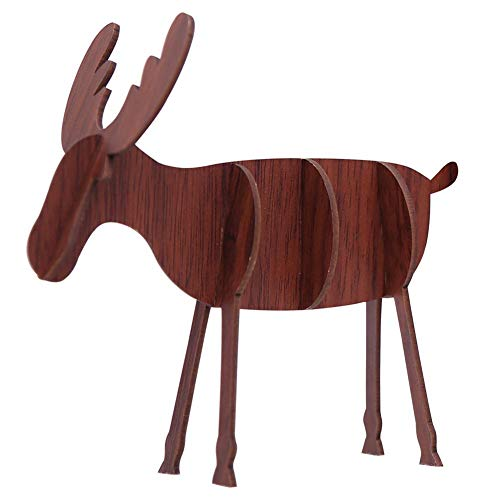 aheadad DIY Holz Tier elch Ornamente weihnachtsdekoration Ornamente Weihnachten Kinder Geschenke DIY Holz Spielzeug -