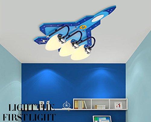 Preisvergleich Produktbild LED Kreative Kinderzimmer Deckenlampe Man Bedroom Study Room Kindergarten Zimmer Kinder Holz Deckenleuchte (mit Lichtquelle, mit Fernbedienung) ( größe : A )