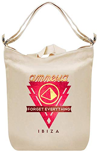 Amnesia Clubbing Vergessen Sie alles in Ibiza Logo - Amnesia Clubbing Forget Everything In Ibiza Logo Canvas Day Bag Custom Printed Handbag Fashion Accessory For Men & Women -