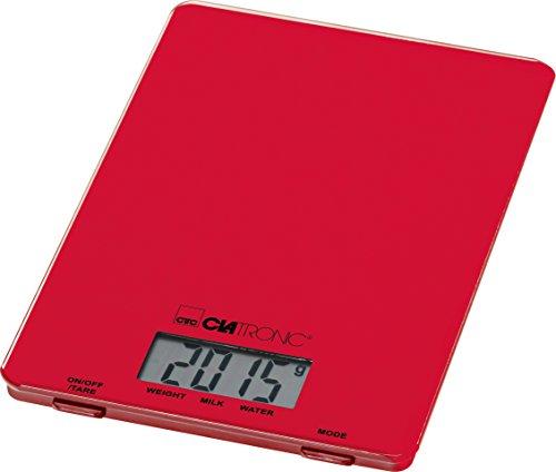 Clatronic Kw 3626 Bilancia Cucina A Lcd , Rosso
