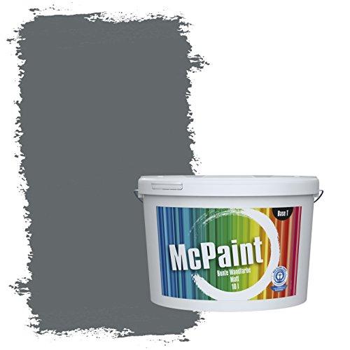 McPaint Bunte Wandfarbe Anthrazit - 10 Liter - Weitere Graue Farbtöne Erhältlich - Weitere Größen Verfügbar