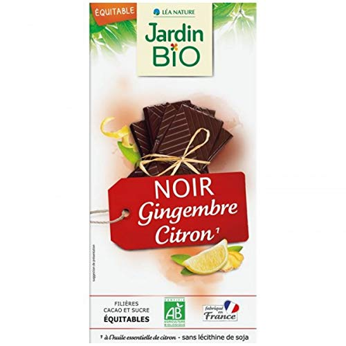 Jardin Bio Chocolat Noir Gingembre Citron 100 g