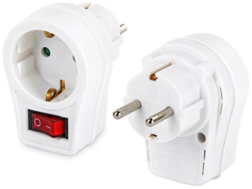 Adaptateur de prise avec interrupteur–Max. 3680W–d'économie