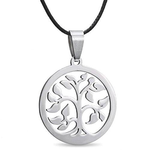 MESE London Baum Des Lebens Halskette Energie-Silber-Anhänger - Elegante Geschenkbox