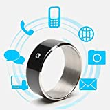 WEII Smart Ring Creative NFC Smart Ring Dispositivo universale indossabile intelligente Android,Nero 11,Taglia unica